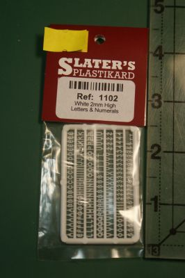 Slaters 1102 Moulded Letters 2mm high